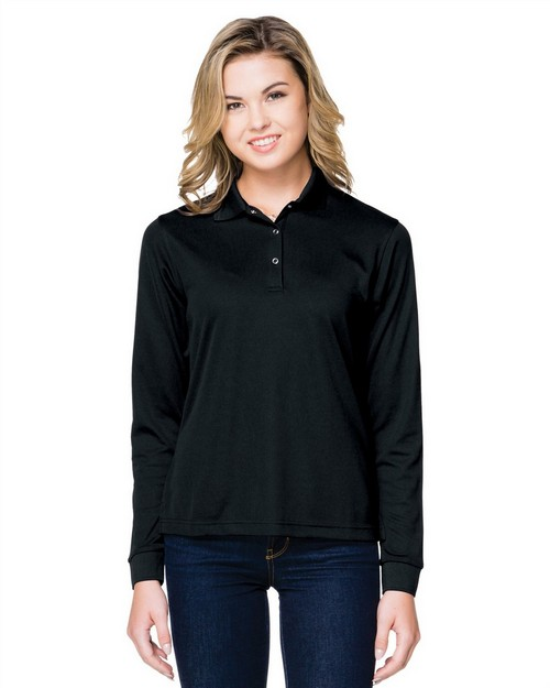 Tri-Mountain KL022LS 5 Oz. 100% Polyester Mini-Pique Long Sleeve Polo Featuring Moisture-Wicking