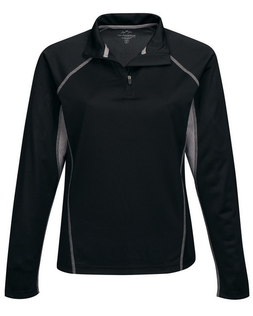 Tri-Mountain Performance KL613 Women's 100% Polyester 1/4 Zip Pullover
