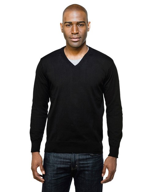 Tri-Mountain SW940 Vance 82% Cotton, 18% Nylon Fine Gauge V Neck Sweater