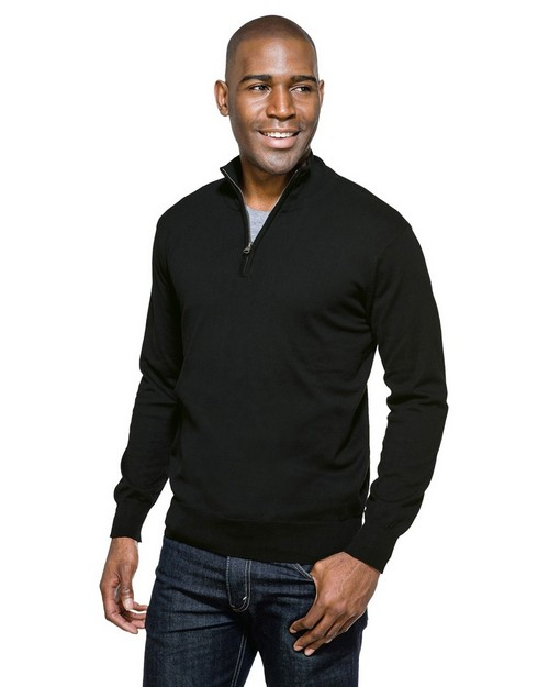 Tri-Mountain SW941 Quermtom 82% Cotton / 18% Nylon Fine Gauge 1/4 Zip Sweater
