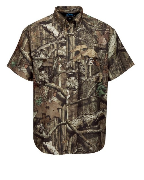 Tri-Mountain W703C Reef Camo Short Sleeve Shirt Featuring UPF 25 Sun Protection