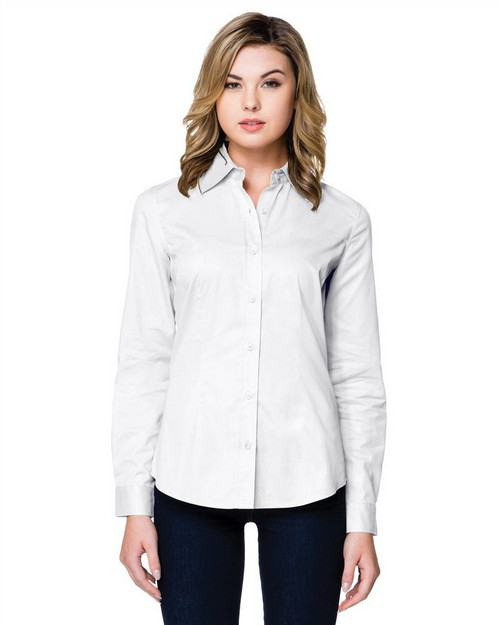 Tri-Mountain WL700LS Women's 3.8 Oz. Brushed Twill Long Sleeve Woven Shirt