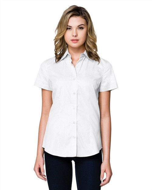 Tri-Mountain WL700SS Women's 3.8 Oz. Brushed Twill Short Sleeve Woven Shirt