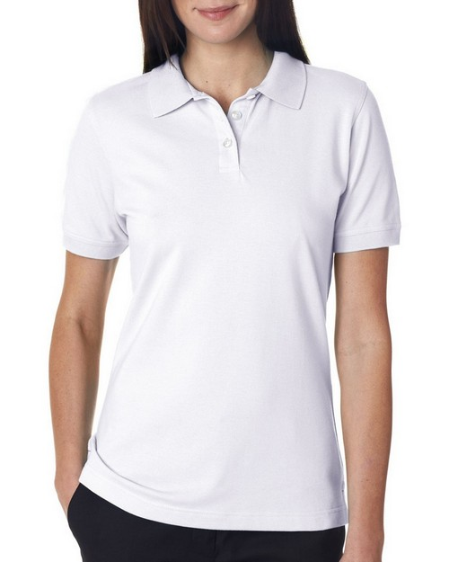 UltraClub 7500L Ladies Classic Platinum Polo