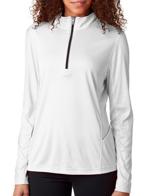 Ultraclub 8230L Ladies' Cool & Dry Sport 1/4-Zip Pullover