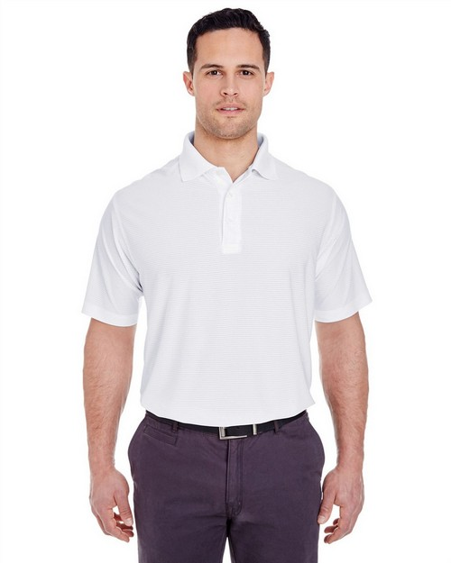 Ultraclub 8250 Mens Cool & Dry Box Jacquard Performance Polo Shirt