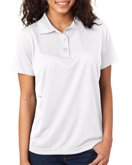 Ultraclub 8255L Ladies Cool & Dry Jacquard Performance Polo Shirt
