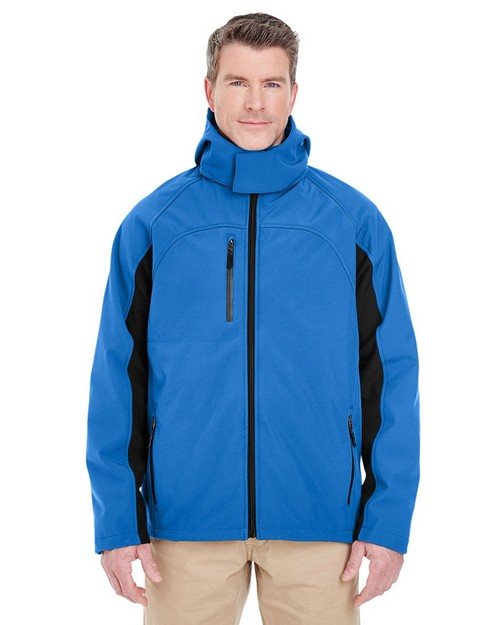 Ultraclub 8290 Adult Color Block 3-in-1 Systems Hooded Soft Shell Jacket