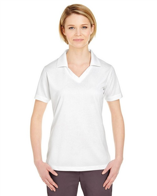 UltraClub 8320L Ladies Platinum Performance Jacquard Polo with TempControl Technology