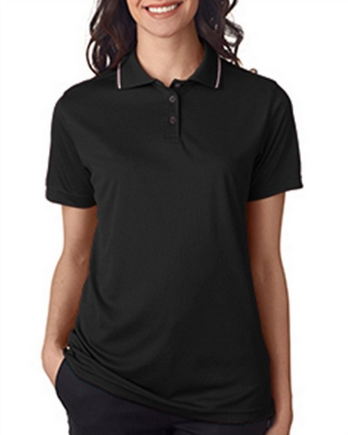 Ultraclub 8394L Ladies' Polo with Tipped Collar