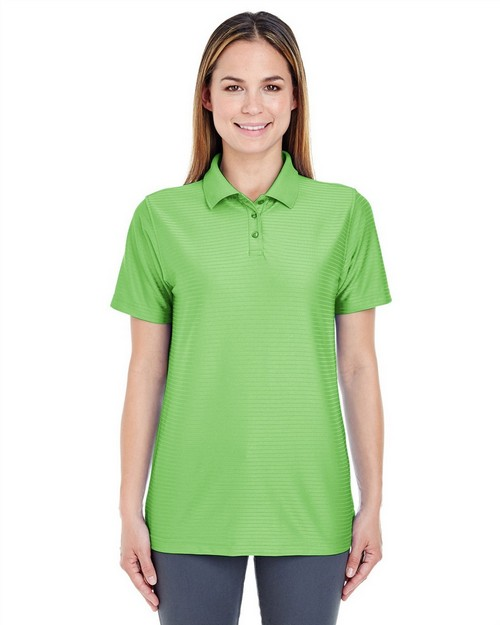 UltraClub 8413L Ladies Cool & Dry Elite Tonal Stripe Performance Polo