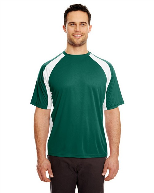 Ultraclub 8421 Adult Cool & Dry Sport Two Tone Performance Tee