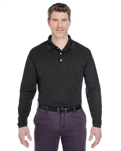 Ultraclub 8445LS Adult Cool & Dry Long Sleeve Stain Release Performance Polo