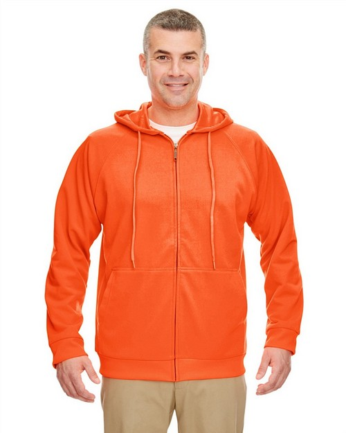 Ultraclub 8463 Thermal Full Zip Sweatshirt