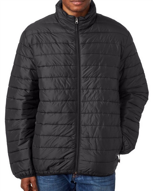Ultraclub 8469 Adult Quilted Puffy Jacket