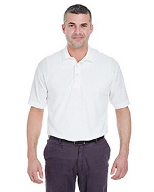 Ultraclub 8540T Men's Tall Whisper Pique Blend Polo