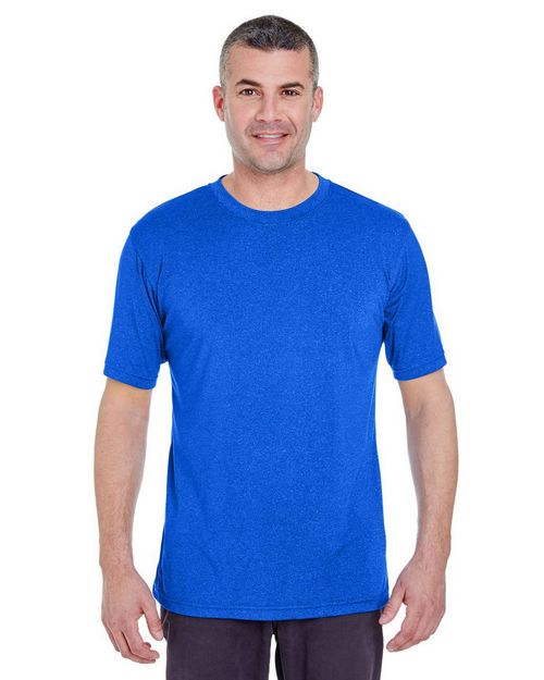 Ultraclub 8619 Men's Cool & Dry Heather Performance Tee