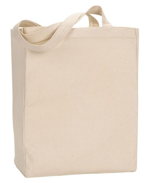 Ultraclub 8861 Canvas Tote with Gusset