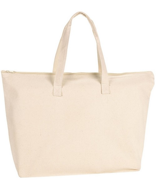 Ultraclub 8863 Zipper Canvas Tote