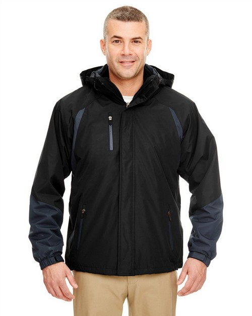 UltraClub 8939 Adult Three-in-One Color Block Systems Jacket