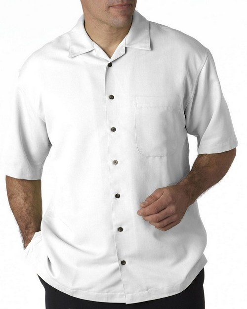 Ultraclub 8980 Solid Camp Shirt