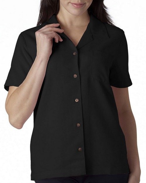 Ultraclub 8981 Ladies Solid Camp Shirt