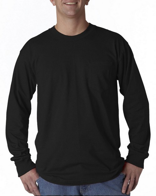 Union Made 3055 Long-Sleeve Pocket Tee