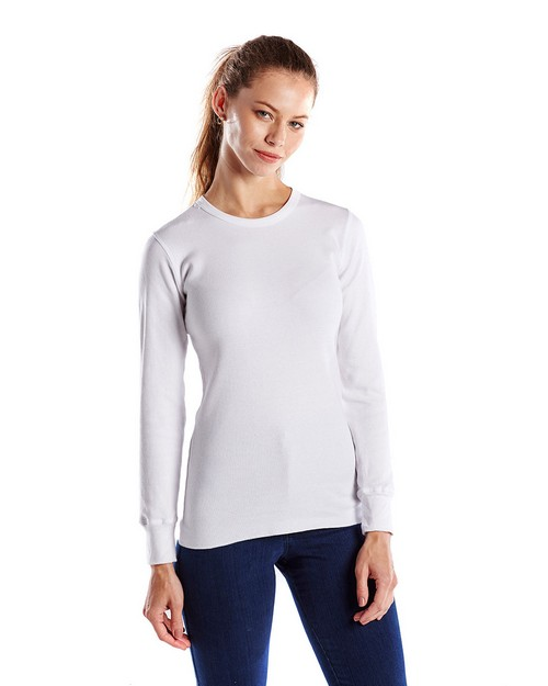 US Blanks US199 Ladies 5.8 oz. Long-Sleeve Thermal Crewneck