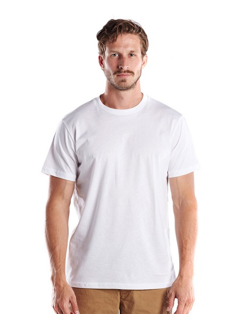 US Blanks US200OR Mens 5.8 oz. Short-Sleeve Organic Crewneck