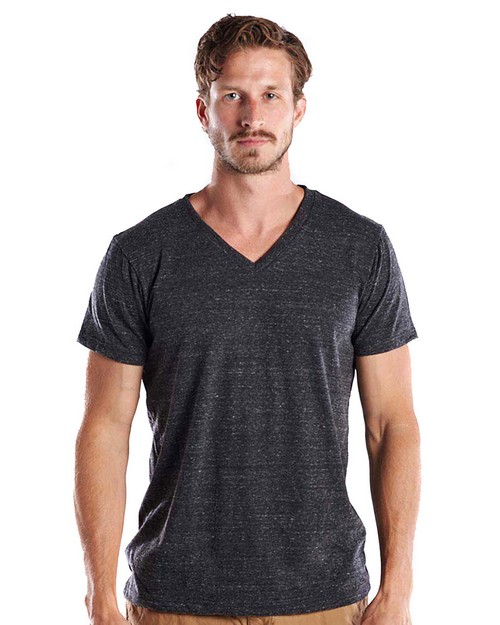 US Blanks US2228 Mens 4.9 oz. Short-Sleeve Triblend V-Neck