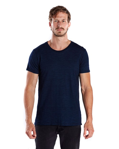 US Blanks US2404 Mens 6 oz. True Indigo Crew