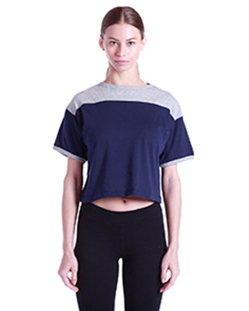 US Blanks US608 Ladies 5.8 oz. Boxy Yoke Recycle Tee