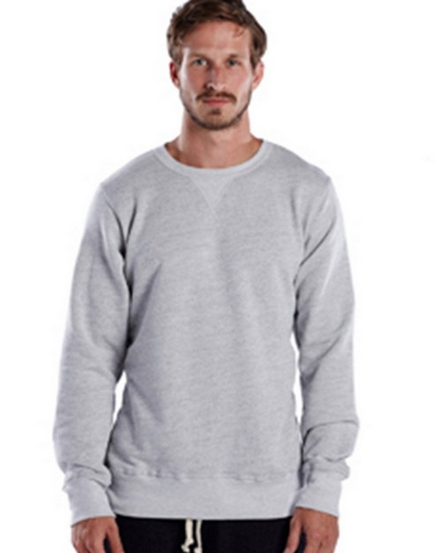 US Blanks US8000 Mens Long-Sleeve Pullover Crew