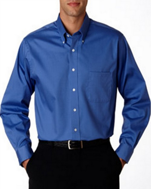 Van Heusen V0067 Men's Long-Sleeve Oxford Shirt.