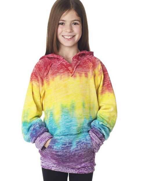 Weatherproof W1162Y Youth Girls Courtney Burnout V-Notch Sweatshirt