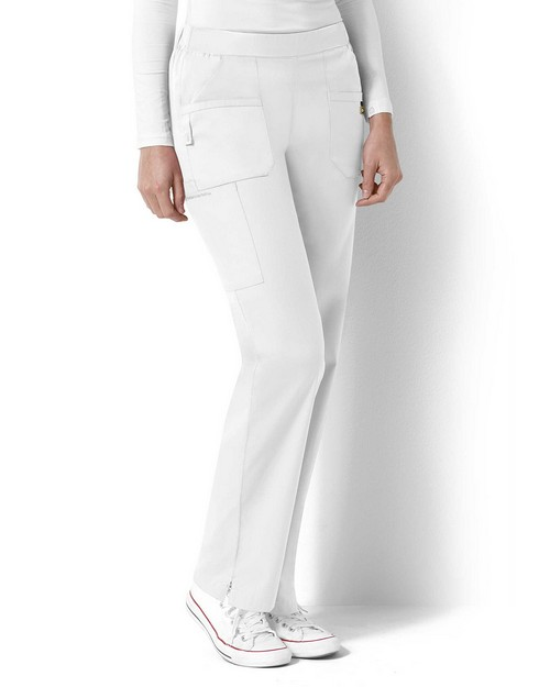 Wonderwink 5219T Women's Tall Flat Front Back Elastic Pant