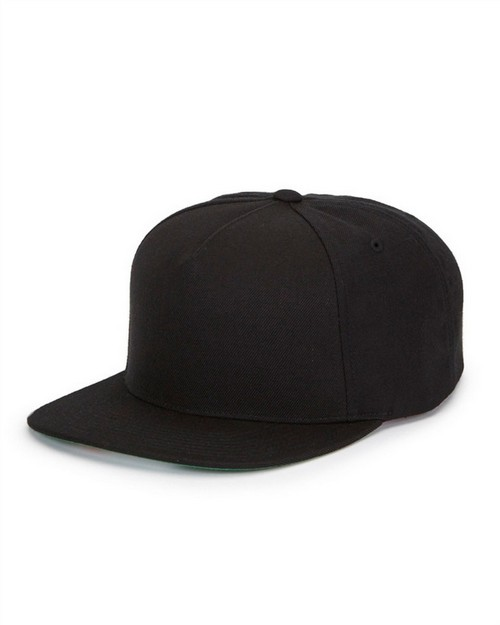 Yupoong Y5089 5-Panel Wool Blend Snapback Cap