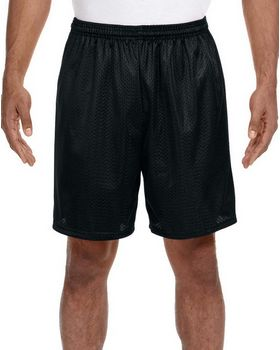 A4 N5293 Adult 7-Inch Lined Tricot Mesh Shorts