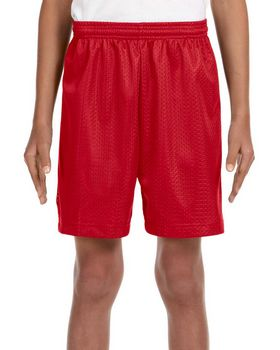 A4 NB5301 Youth 6-Inch Lined Tricot Mesh Shorts