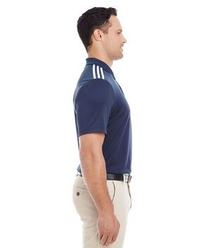 Adidas Golf A233 Mens 3-Stripes Shoulder Polo at ApparelnBags.com