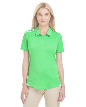 Adidas Golf A235 Ladies 3-Stripes Shoulder Polo at ApparelnBags.com
