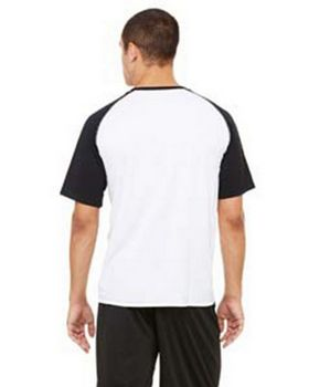 All Sport M1004 Men's 4.3 oz. Short-Sleeve Colorblocked Crew T-Shirt