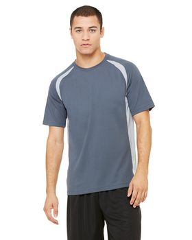 Alo Sport M1004 Men's S-Sleeve Colorblocked Crew T-Shirt