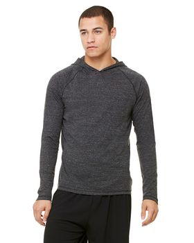 Alo Sport M3101 Mens Performance Triblend Jersey Long-Sleeve Hooded Pullover