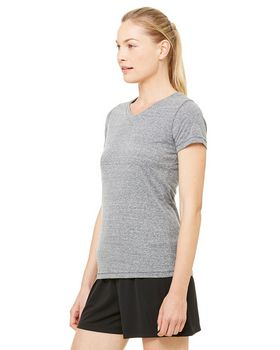 Alo Sport W1105 Ladies Performance Triblend Short-Sleeve V-Neck T-Shirt