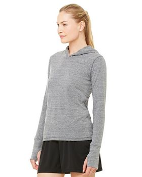 Alo Sport W3101 Ladies Performance Triblend Long-Sleeve Hooded Pullover