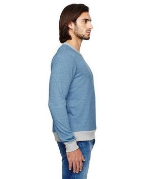 Alternative 09898E Mens Eco Mock Pullover
