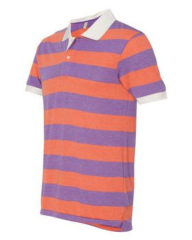 Alternative 1905 Eco-Jersey Stripe Short Sleeve Polo