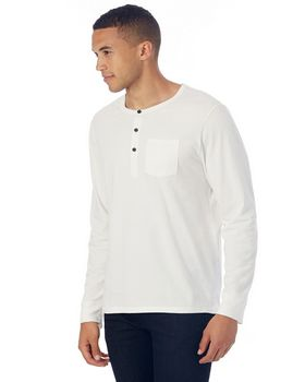 Alternative 2880P1 Mens Organic Pima Cotton Classic Henley at ApparelnBags.com