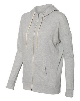 Alternative 2896 Womens Eco Jersey Cool Down Hooded Full-Zip